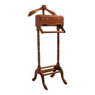 Vintage Well Made Gentleman's Mahogany Valet Stand For Sale