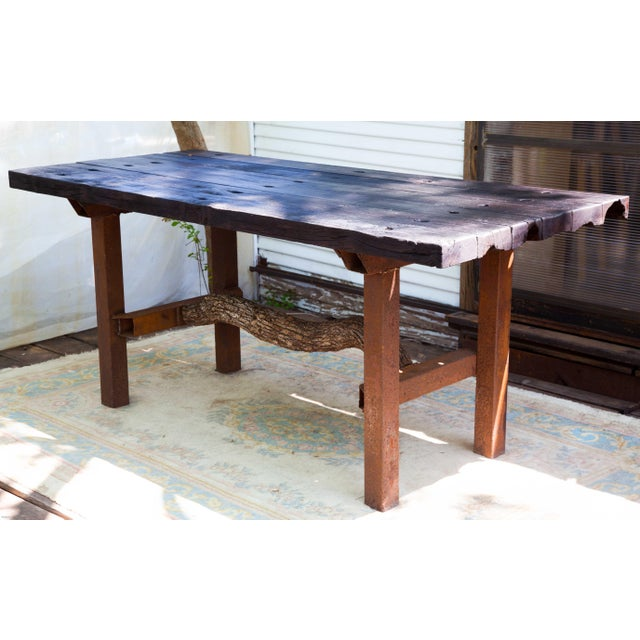 Wabi-Sabi Yakisugi Wood Dining Island Table Console For Sale - Image 10 of 11