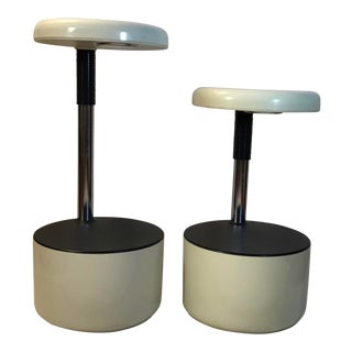 """Golf"" Bar Stools by Roberto Lucci and Paola Orlandini for Velca Legnano-A Pair For Sale"