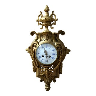 Antique 19th Century Bronze Cartel Clock For Sale