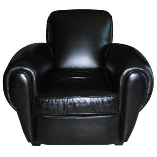 Mitchell Gold + Bob Williams Leather Club Chair For Sale
