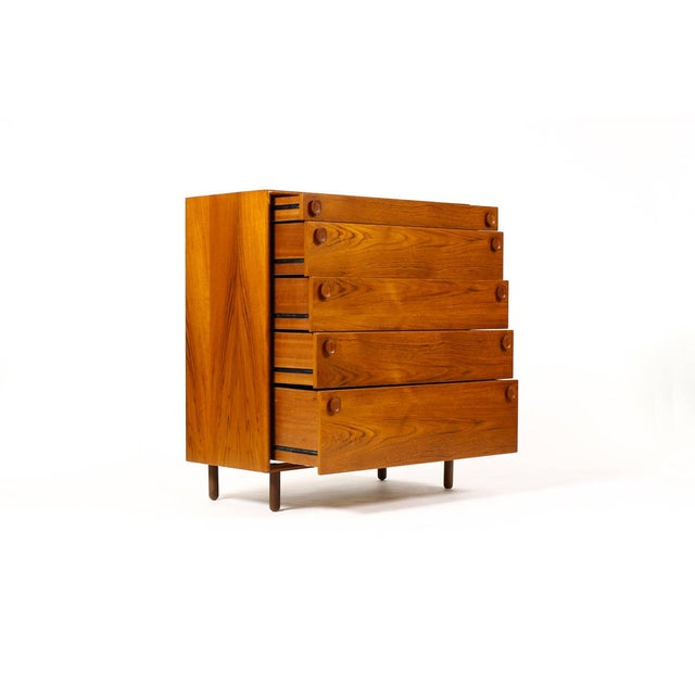 1960s 1960s Mid Century Modern Meredew Teak Upright Dresser For Sale - Image 5 of 9