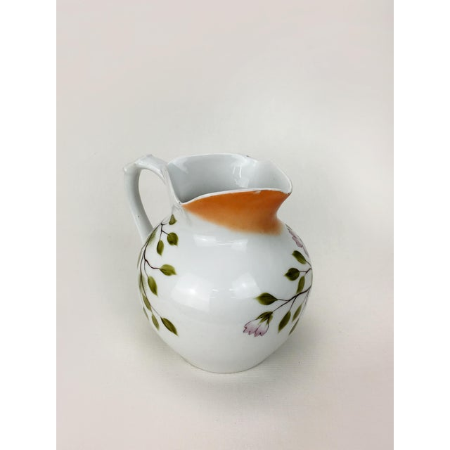 Traditional 20th Century Traditional Autumn Magnolias Porcelain Pitcher For Sale - Image 3 of 6