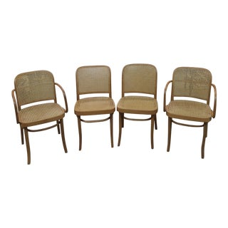 Mid 20th Century Joseph Hoffman Bentwood Chairs - Set of 4 For Sale