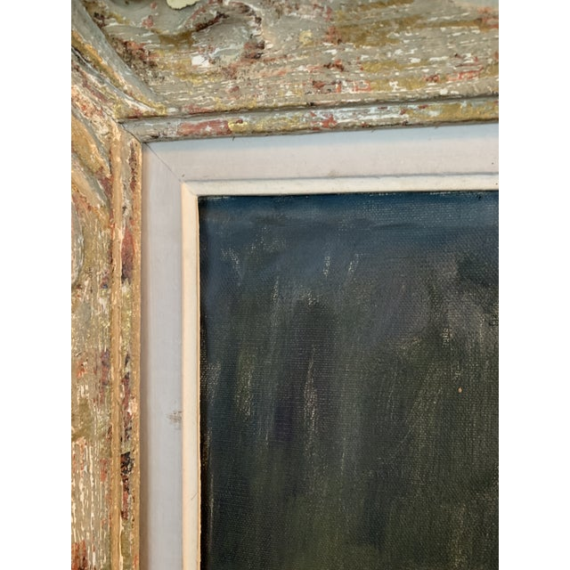 Brick Red 1950s Portrait of a Woman Oil Painting by Nathan Wasserberger, Framed For Sale - Image 8 of 9