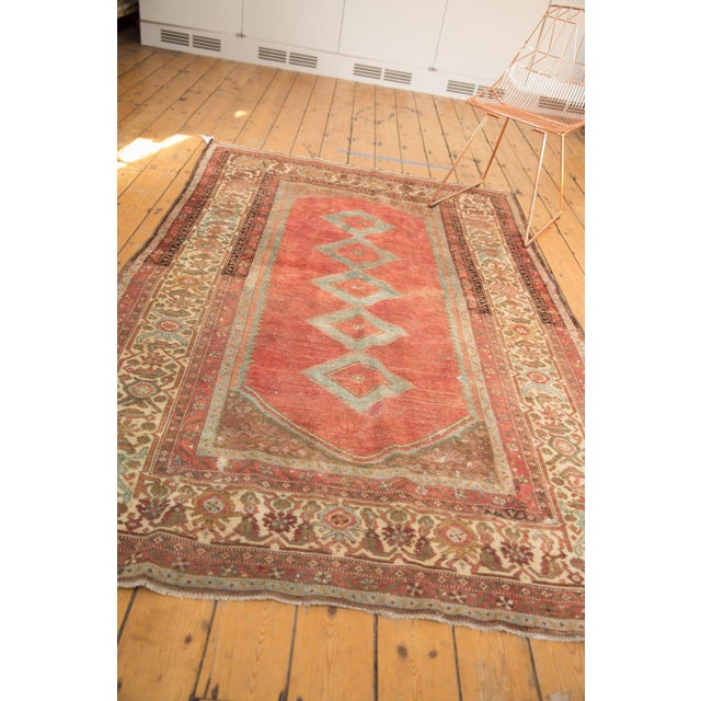 """Vintage Distressed Malayer Rug - 5' X 7'7"""" For Sale - Image 11 of 13"""