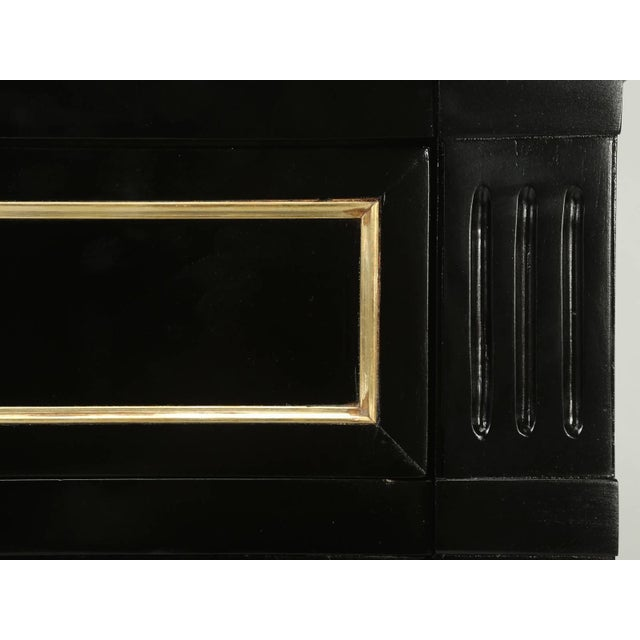 Ebony Antique French Louis XVI Style Buffet in an Ebonized Finish For Sale - Image 7 of 10
