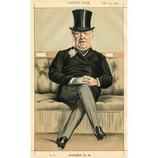 19th-C. Vanity Fair British Politician Portrait, Henry Eaton For Sale