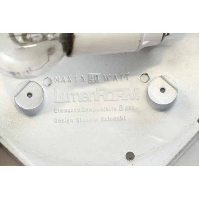 White Lumenform White Opaline Semi-Flush Light For Sale - Image 8 of 8