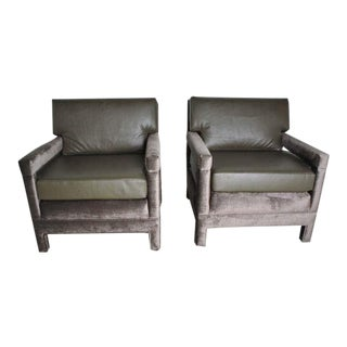 John Widdicomb Lounge Upholstered Armchairs For Sale