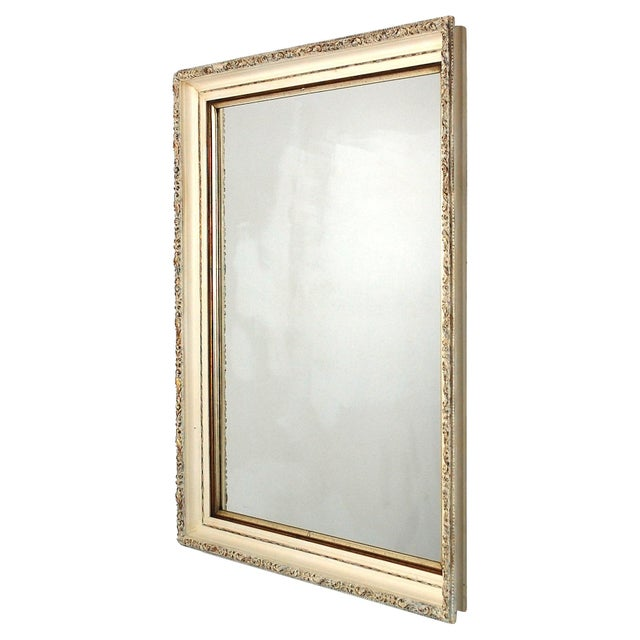 Large Antique Cream and Gold Mirror - Image 2 of 6