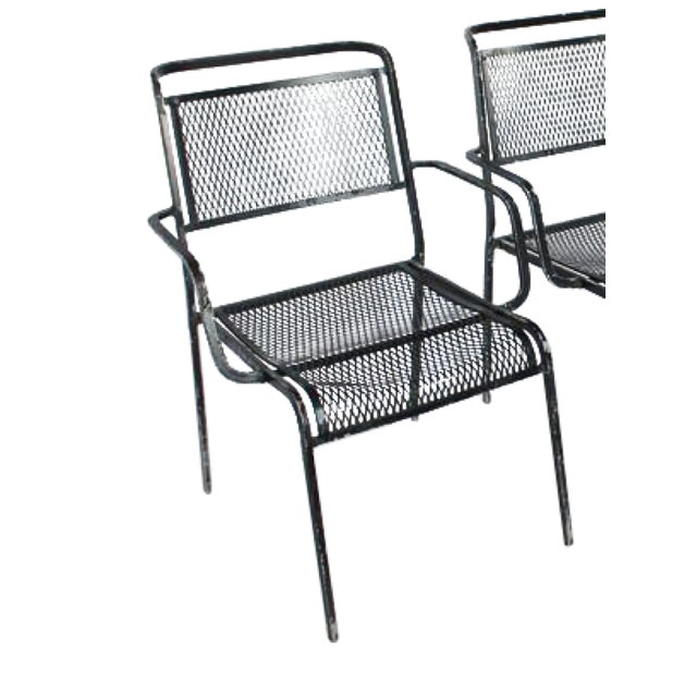 Mid-Century Garden Metal Armchair For Sale - Image 4 of 4