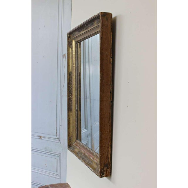 French Provincial Early 19th Century Giltwood Mirror For Sale - Image 3 of 11