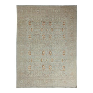 """Contemporary Beige Turkish Oushak Hand-Knotted Rug - 8'2"""" X 11'"""