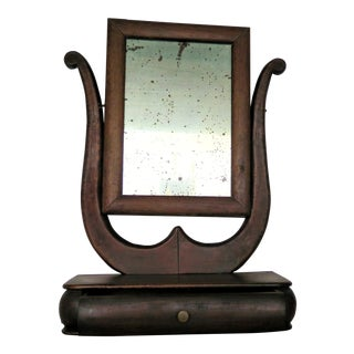 "19th Century French ""Lyre"" Mirrored Vanity For Sale"