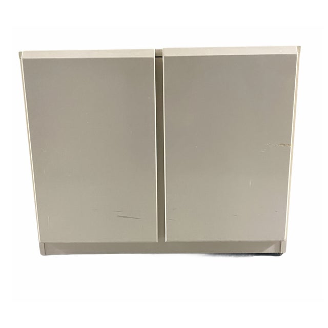 Late 20th Century Vintage 1980s Lane Furniture Postmodern Cream Cabinet For Sale - Image 5 of 5