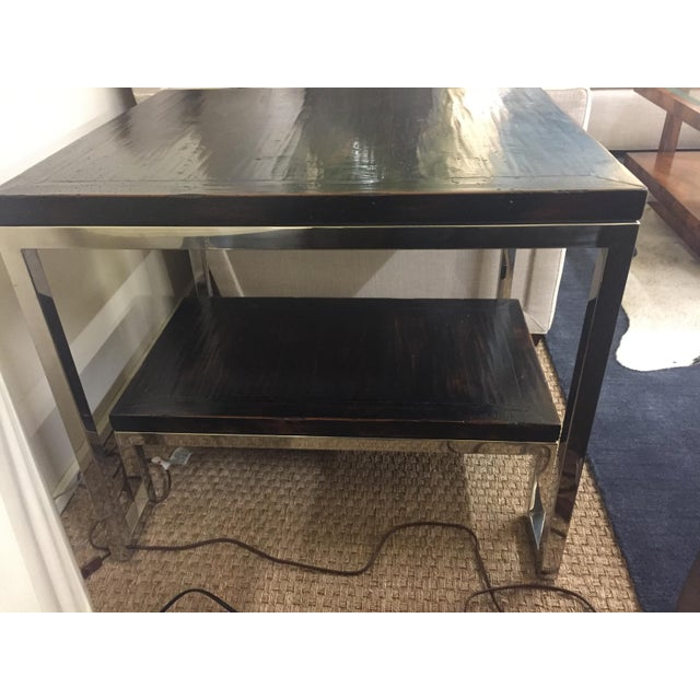 Artistica Modern Metal End Table - Image 3 of 7