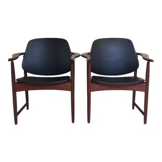 1960s Arne Hovmand-Olsen Chairs - a Pair For Sale