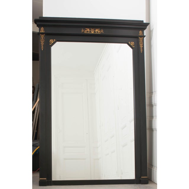 French 19th Century Second Empire Ebonized Console and Mirror For Sale - Image 11 of 13