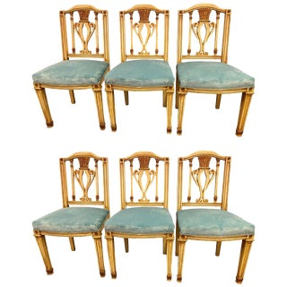 Fine Set of Six Regency Painted Dining Chairs in the Manner of Maison Jansen For Sale