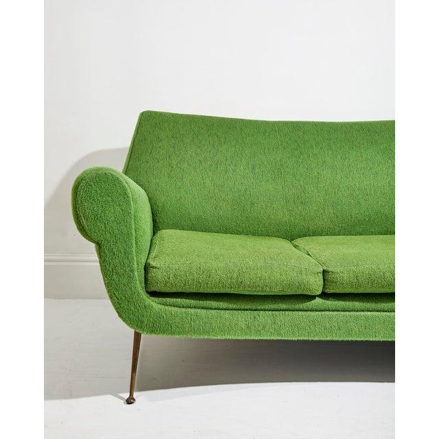 Gigi Radice Curved Three Seater Sofa by Gigi Radice For Sale - Image 4 of 5