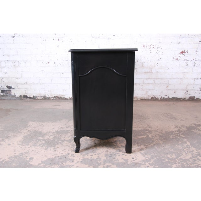 John Widdicomb French Provincial Louis XV Ebonized Dresser, Newly Refinished For Sale - Image 11 of 13