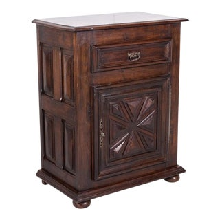 Early 19th Century Louis XIII Oak Jam Cabinet or Confiturier From Normandy For Sale