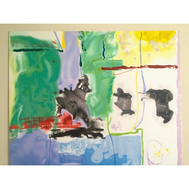 "This Helen Frankenthaler rare limited edition hand pulled original silkscreen serigraph Abstract Expressionist print"" West..."