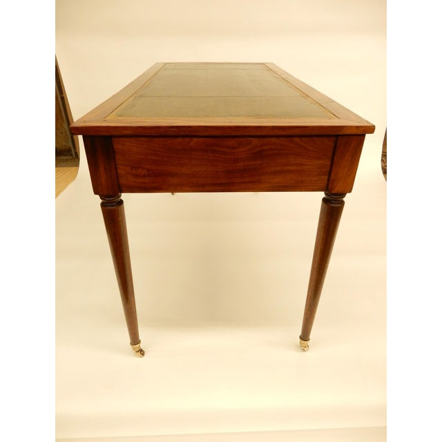 19th C. Louis XVI Style Desk/Leather Top For Sale - Image 4 of 6