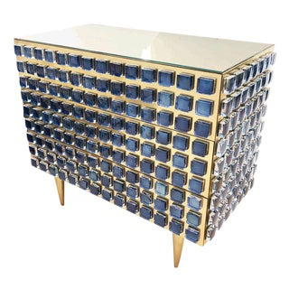 Glass and Brass Chest / Cabinet by Interno 43 for Gaspare Asaro For Sale