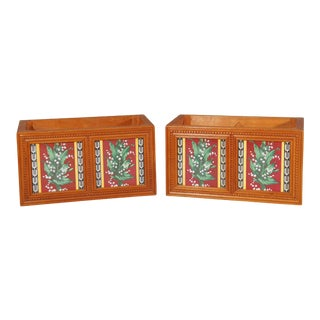 Pair of Minton Aesthetic Movement Tiled Jardinieres with Lily of the Valley For Sale