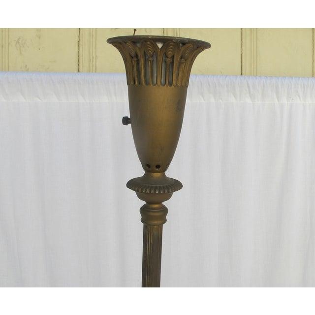 Antique 1920s Torch Floor Lamp - Image 4 of 7