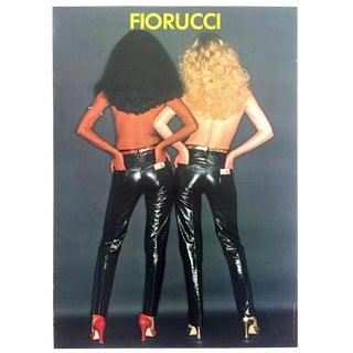 """Original Vintage Rare 1979 """" Fiorucci """" New Wave Italian Fashion Iconic Oilviero Toscani Photo Poster For Sale"""