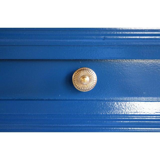 Blue Vintage Blue Glossy Dresser For Sale - Image 8 of 10