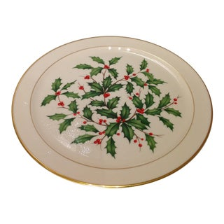 Lenox Porcelain Holly Berry Dessert Plate For Sale