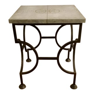 Modern Arteriors Iron Accent Table For Sale