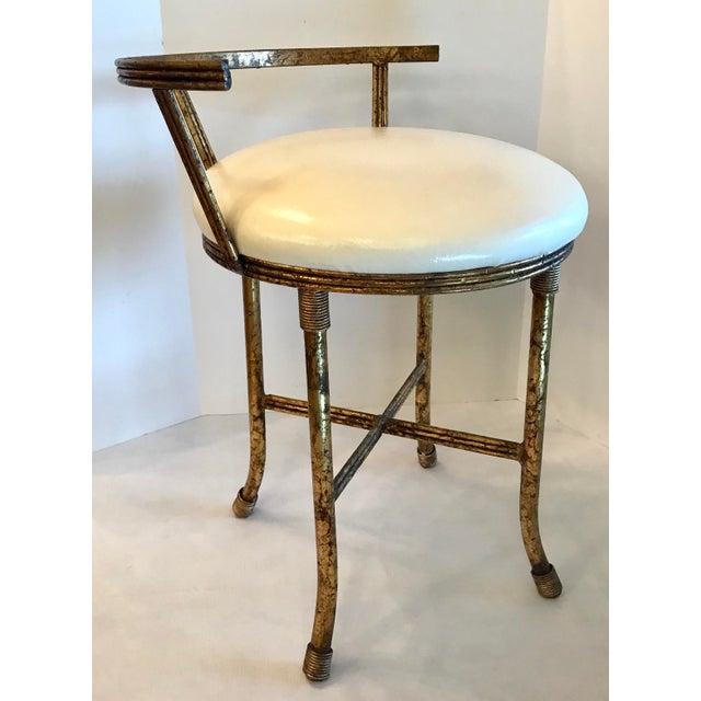 Excellent 1920S Vintage Hollywood Regency Gold Vanity Stool Gamerscity Chair Design For Home Gamerscityorg