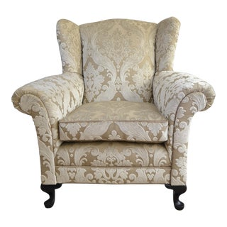 Aslan Textured Velvet Armchair, 1930s For Sale