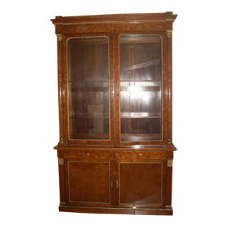 19th C. French Breakfront Cabinet For Sale