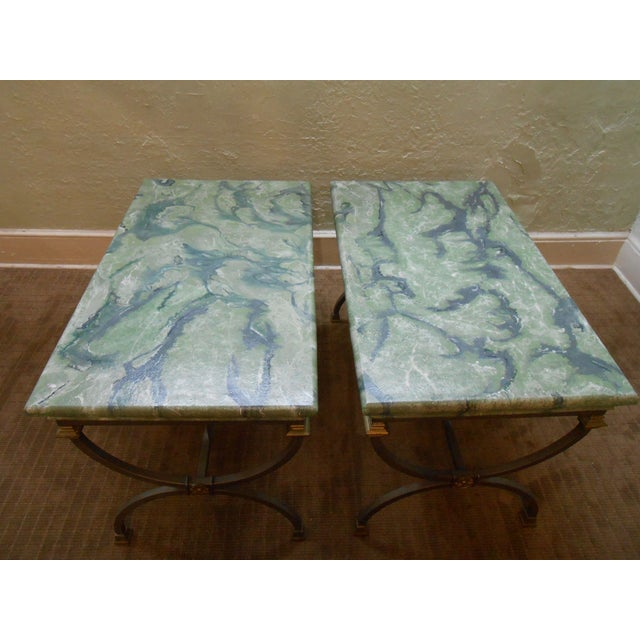 Regency Directoire X Base Iron Consoles - A Pair - Image 3 of 9