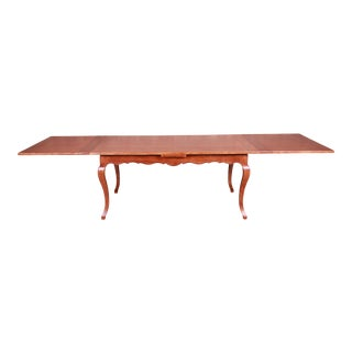 Baker Furniture French Country Harvest Farm Table, Newly Refinished For Sale