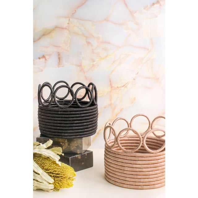 Contemporary Indego Africa Handmade Ikamba Basket, Black For Sale - Image 3 of 4