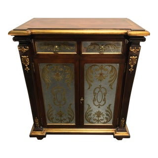 Monarch Fine Furniture for Century Empire Style Inlaid Mahogany Console Cabinet For Sale