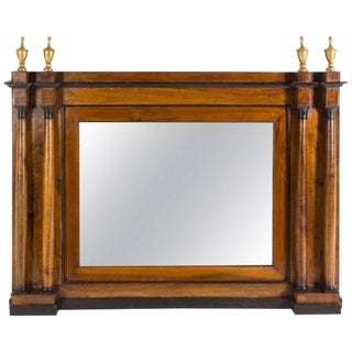 Italian Parcel Ebonized Walnut Mirror, 18th Century For Sale