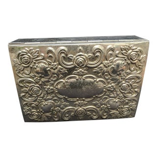 Godinger Neoclassical Silver Plate Jewelry / Trinket Box For Sale