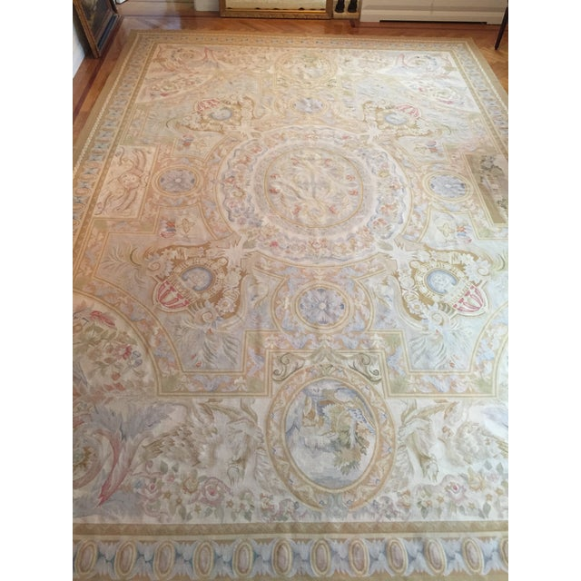 Aubusson French Wool Rug - 9′9″ × 14′2″ - Image 11 of 11