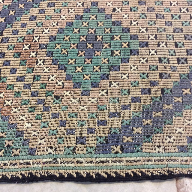 "1960's Turkish Sumac Kilim - 6'x11'6"" For Sale - Image 9 of 13"