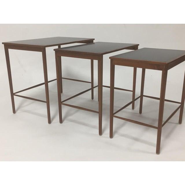 1970s 1970s Mid Century Modern Poul Jeppesen Nesting Tables - Set of 3 For Sale - Image 5 of 7