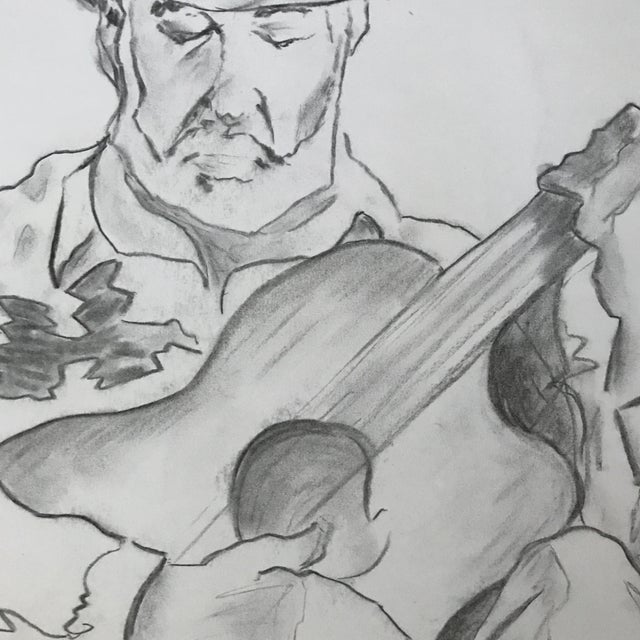 Modern The Guitarist 1 - Drawing For Sale - Image 3 of 3