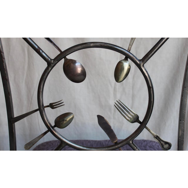 "Randall Kramer ""Silverware"" Chairs - A Pair - Image 7 of 8"